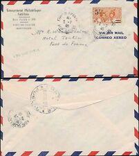 MARTINIQUE 1945 SURCHARGE 5F PHILATELIC AIRMAIL ENVELOPE FDC...L2