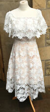 Coast - Stunning White Floral Lace Off Shoulder Patience Midi Dress (10) BNWT