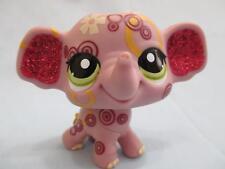 Littlest Pet Shop Glitter Elephant Purple Pink Sparkle 2154 Authentic Lps