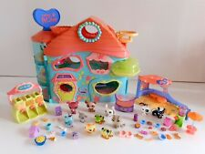 Bundle of Littlest Pet Shop Very Large House, Cafe ,Figures And Accessories