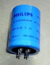 1 pièces elkos philips 22000 µf/16 v 20% (ø x h) 40 mm x 55 MM