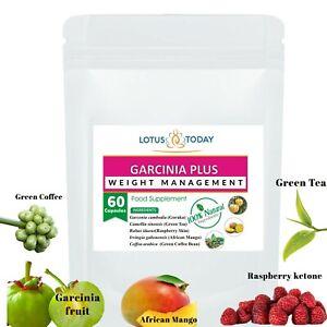 Natural Slimming Pills, Garcinia & Green Tea, Diet, 60 Veg capsules Weight Loss