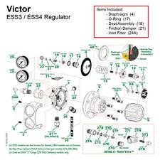 Repair Kit For Victor Edge Ess4 Oxygen Regulator 0790 0163