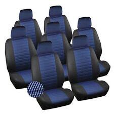 VAN Sitzbezüge Sitzbezug Schonbezüge VW Sharan Touran 7x Set Schwarz/Blau 7232