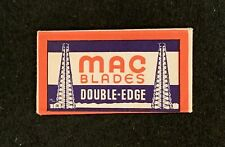 Vintage SEALED Paper Wrapped MAC BLADES Double Edge Razor Blade Texas USA