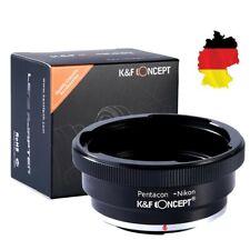 🔥 K&F Concept Adapter Pentacon 6 Kiev 60 Objektiv auf Nikon F Kamera P6 NIK 🔥