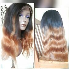 """16"""" Ombre  Body Wave 100% Human Hair Wig 4x4 Lace Closure . UK SELLER!"""