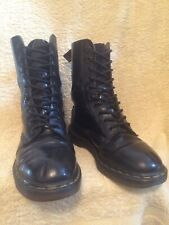 GENUINE DR MARTENS 1490 MADE IN ENGLAND BLACK LEATHER 10 EYE BOOTS UK7 EU 41