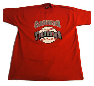 Vintage Clearwater High School Tornadoes Shirt Size XL Red Made in USA EUC
