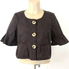 Clothing, Shoes & Accessories Double Stitch Anthropologie Salka Jacket Size S Button-down Wool Blend Tufted Women's Clothing