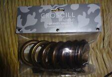 Croscill Drapery Normandy Curtain Clip Rings Mocha Set of Seven
