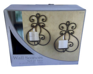 """Wall Sconces for 3"""" X 3"""" Pillar Candles Set of 2 - Candles Not Included"""