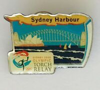 Sydney Harbour Australia 2000 Olympics Torch Relay Pin Badge Vintage (J9)