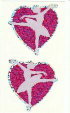Rare Vintage Hambly Pair of Glitter Ballerinas Sticker Sheet - Ballet Dancer