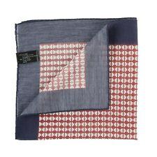 BOGLIOLI Sartorial Pocket Square Handkerchief Hand-Rolled in Italy Silk Cotton 7