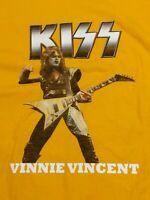 Kiss Vinnie Vincent T-Shirt yellow 3XL