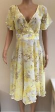 NEW Together Yellow Floral Chiffon Dress Size 12