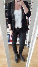 Nieten Blazer Boyfriend only 38 40 M neu schwarz silber instagram rock blogger