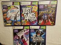 XBOX 360 Kinect LOT5 Just Dance 2014 Dance Central 2 Micheal Jackson Game Party
