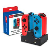 Station de Charge Chargeur 4 en1 Manettes Chargeur Pour Nintendo Switch Joy-Con