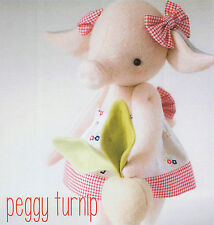 Peggy Turnip - Sewing Craft PATTERN - Soft Toy Felt Doll Bear Piglet Pig