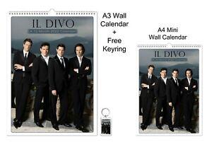 Il Divo 2022 A3 A4 Wall Office Calendar + Key Ring
