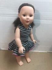 "MADAME ALEXANDER 18"" Doll Long Dark Hair American Doll w/ Outfit"