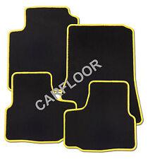 Für Mitsubishi Space Star Bj. ab 3.2013 Fußmatten Velours schwarz mit Rand gelb