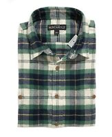 J.Crew Mercantile Mens L Slim Fit - NWT Green/Navy Tartan Plaid Flannel Shirt
