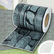 PVC Sichtschutz Streifen Sichtschutzfolie Doppelstabmatten Zaun 35m Schiefer