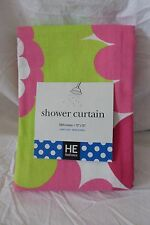 """He HomEtceteras Floral Fabric Shower Curtain 72"""" x 72"""" Nip"""