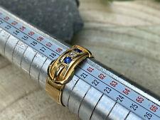 wunderschöner antiker Safir Diamant Ring - Birmingham - 18 kt Gold - W 59/60