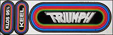 Triumph 80's KLOS Rainbow Concert Bumper Sticker LA Radio 95.5 Rik Emmett Keel