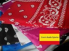 Bandana Foulard Col Cachemire Motif Rose