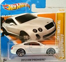 Hot Wheels - BENTLEY CONTINENTAL SUPERSPORTS - 2012 PREMIERE WHITE - RARE - MOMC