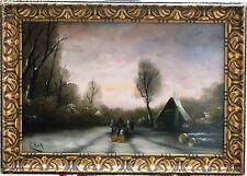 HOLLAND - WINTER LANDSCAPE - by C. KOK - DUTCH   (after LOUIS APOL )