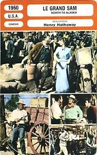 Fiche Cinéma. Movie Card. Le grand Sam/North to Alaska (USA) 1960 Henry Hathaway