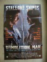 Demolition Man Sylvester Stallone Wesley Snipes 1993 27X41 original poster