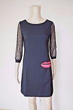 €99 DESIGUAL sz 38 EU/ S ? WOMENS DRESS 3/4 TULLE MINI ABOVE KNEE MESH LIPS KISS