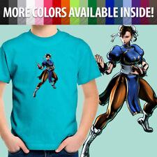 Capcom Street Fighter Chun Li Fight Kung Fu Girl Toddler Kids Tee Youth T-Shirt