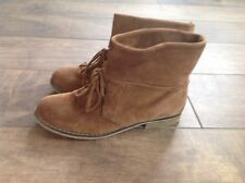 CUTE MIA VINTAGE 90S BROWN SUEDE ANKLE BOOTS MUSIC FEST LACE UP WOMANS 9