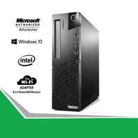 Lenovo M93P SFF Computer Desktop PC i5 3.2GHz 16GB RAM HDD-SSD WiFi Windows 10