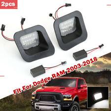 55077291AD White LED 3W License Plate Light Assy 18-SMD For Dodge RAM 2003-2018