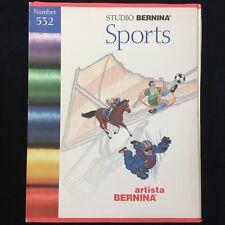 Bernina Embroidery Designs Card #532 Sports for Artista & Deco Series