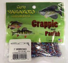 """GARY YAMAMOTO CRAPPIE PANFISH 3"""" SENKO RED BLUE SILVER 3X 10 PACKS 30 SHADS"""