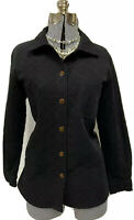 Talbots Stretch Black Barn Jacket Quilted Driving Coat Medium