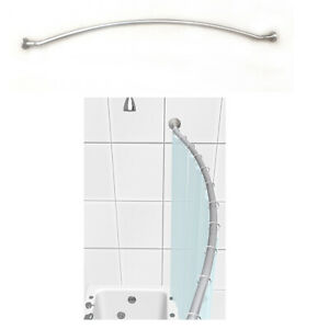 """TAYMOR 60"""" L Satin Nickel Curved Shower Rod,Adjustable w/ Mounting Hardware,NEW!"""