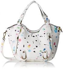 Desigual Women'S Bols_Rotterdam Mini New Splatt Top-Handle Bag, White 10
