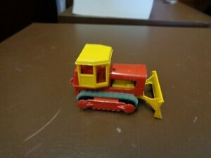 Original Lesney Matchbox 16 Case Tractor Regular Wheels Bulldozer Vintage