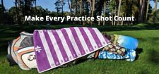 Golf swing alignment training aid and golf towel